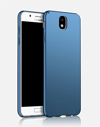 official photos 446b2 606cc RayKay Blue Back Cover For Samsung Galaxy J7 Pro - 4 Cut Matte Rubberised  Hard Blue Back Cover Case for Galaxy J7 Pro