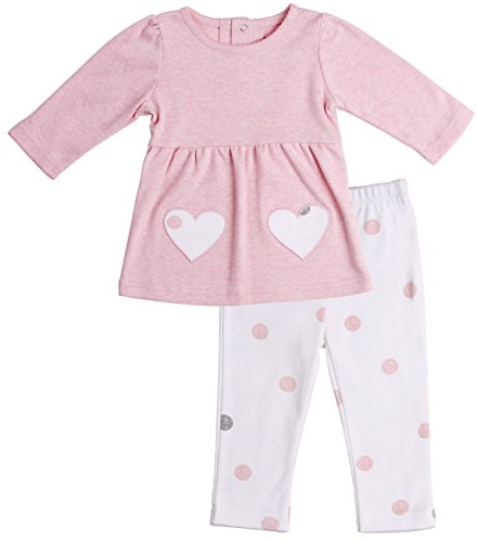 Baby Girls Long Sleeved Top - Asher and Olivia Baby Girls' Clothing Set Long-Sleeve Tunic and Polka Dot Legging Size 9-12 Month