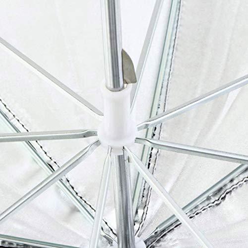 83cm 33 Photo Studio Flash Light Grained Black Silver Umbrella Reflective Reflector Wholesale Dropshipping