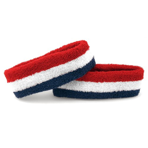 The Patriot - Terry Cloth Sweatband/Headband, True 'Merica (Red/White/Blue)]()