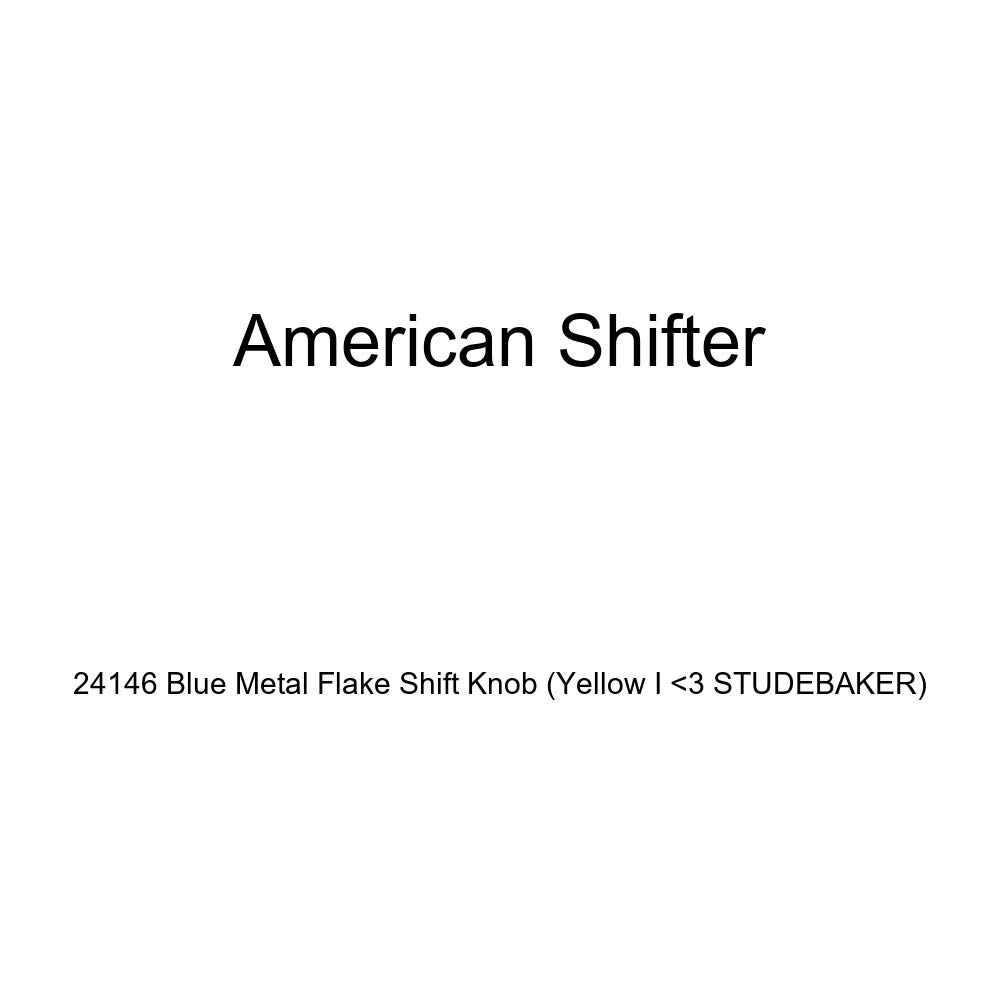 American Shifter 24146 Blue Metal Flake Shift Knob Yellow I 3 Studebaker