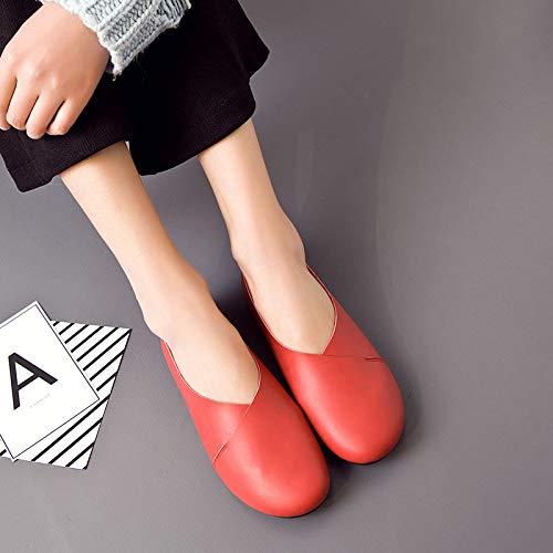 Taille 42 Noir Zhrui couleur Rouge Eu Shoes Hwfxw8Zqt