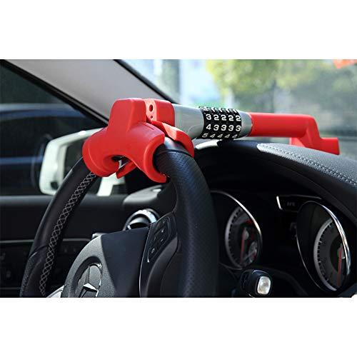 OKLEAD 5 Coded Steering Wheel Lock Universal Keyless Twin Hook Lock Anti Theft Locking Device by OKLEAD (Image #1)
