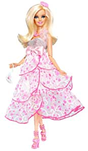 Barbie V7148 Fashionista Sweetie - Muñeca Barbie articulada con vestido de fiesta y accesorios