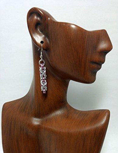earrings, byzantine earrings, drop earrings, chainmaille earrings
