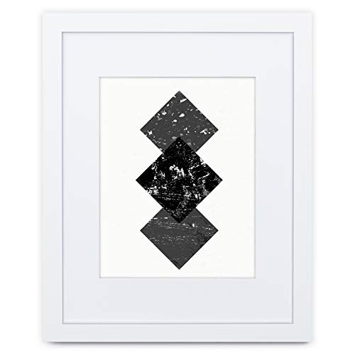 11x14 White Picture Frame - Matted for 8x10, Frames by ()