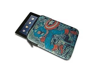 PDP IP-1520 Marvel - Funda de neopreno para iPad, tablets o e-readers (25,40 cm) con diseño del Capitán América