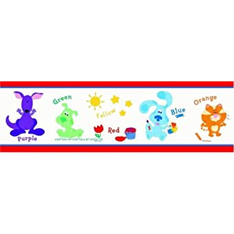 Nick Jr BLUES CLUES BABY NURSERY Kids Decor Childrens WALLPAPER WALL BORDER