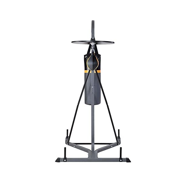 GOPLUS Punching Bag w/Stand 2 in 1 Hanger Wall Bracket Hanging Boxing Frame with Heavy Bag & Speed Bag 3