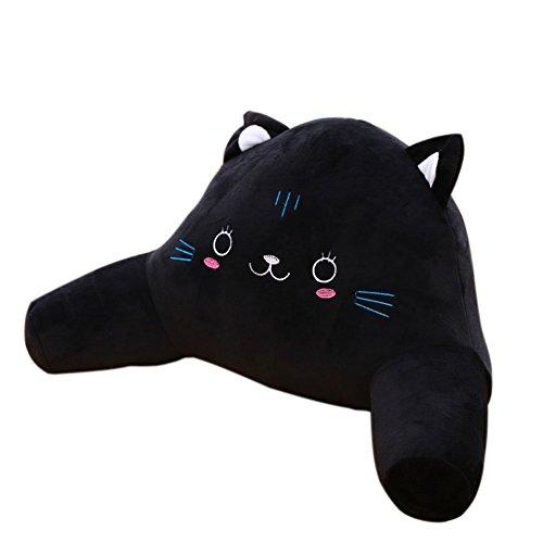 Novelty Black Cat Bedrest Reading Posture Arm Pillow Plush B