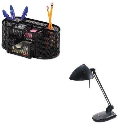 KITLEDL281MBROL1746466 - Value Kit - Ledu High-Output Three-Level Halogen Desk Lamp (LEDL281MB) and Rolodex Mesh Pencil Cup Organizer (ROL1746466)