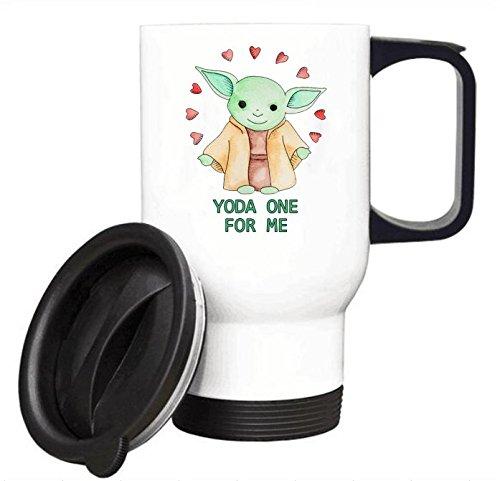 面白いファンマグ – YodaヨーダOne for Me旅行コーヒーマグステンレス鋼車カップ14オンス 14オンス ホワイト SLFPK-00022 B07BL2TCGP  ホワイト