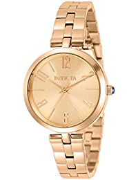 Women's Angel Quartz Watch with Stainless Steel Strap, Rose Gold, 14 (Model: 31076)