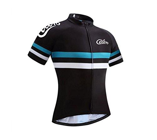 Team Cycling Jersey - Celero Men's Cycling Jersey Bike Short Sleeve Shirt(Blue, M)
