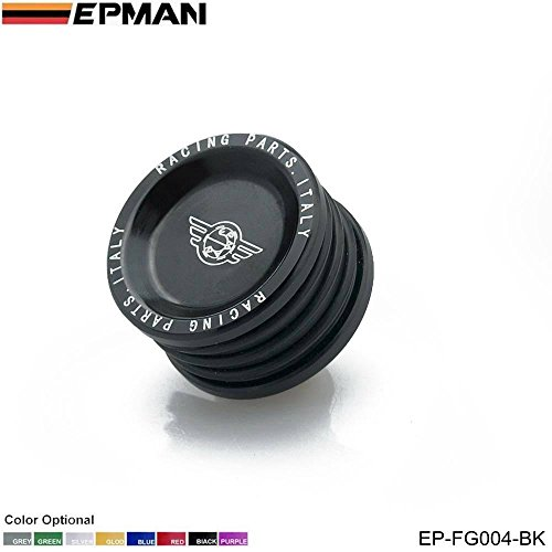 EPMAN Engine Billet Cam Plug Seal For Honda Acura Civic CRX EG EK DC B16 B18 GSR (Black) (Billet Cam Plug)