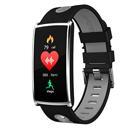 (MDMMBB Color Screen Smart Bracelet Colorful Belt Fashion Sports Step Waterproof Bluetooth Bracelet (Color : Gray))