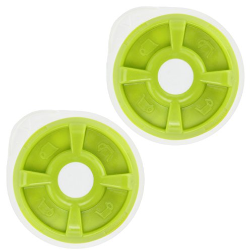 Price comparison product image Spares2go Hot Water T Discs For Bosch Tassimo T12 T20 T32 T40 T42 T65 T85 or VIVY Coffee Machine (Green,  Pack of 2)