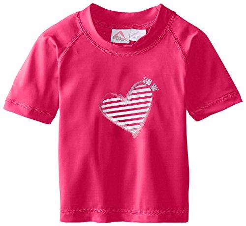 Kanu Surf Toddler Girls' Karlie UPF 50+ Sun Protective Rashguard Swim Shirt, Bali Neon Pink, 4T