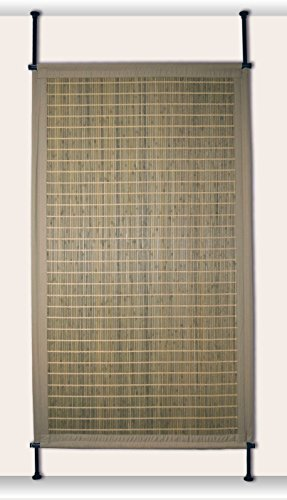 "Versailles Home Fashions PP014-25 Bamboo Privacy Panel, 38"" x 68"", Driftwood"