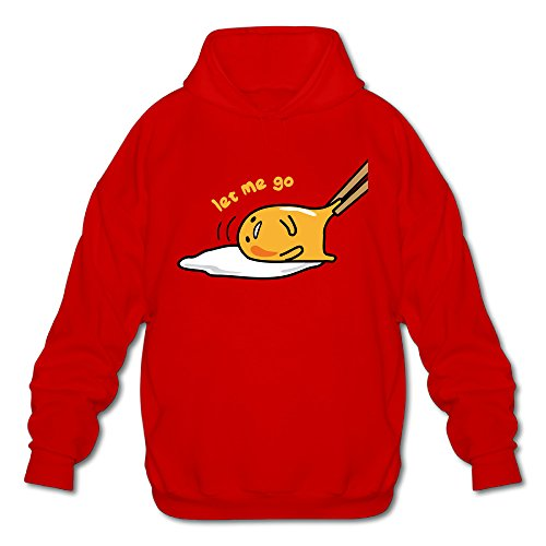 [Men's Gudetama Logo Hoodies Red XL] (Customes Halloween Maternity)