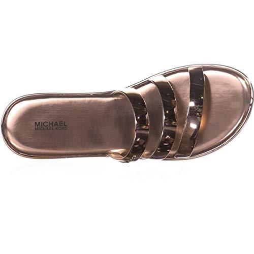 Michael Sandals Kors Toe Open (Michael Michael Kors Womens Keiko Open Toe Casual Slide, Rose Gold, Size 8.0)