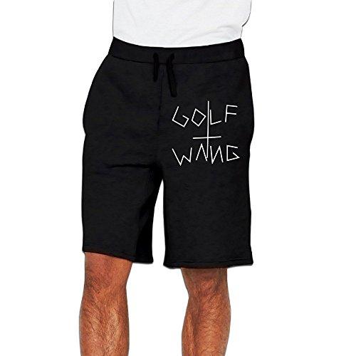 PLBFUY Golf Wang Logo Men's SweatShorts Pants Lycra With Pockets Black