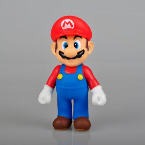 """New Super Mario 5"""" MARIO Action Figure Toy Red Hat mm Super Quality by Completestore"""