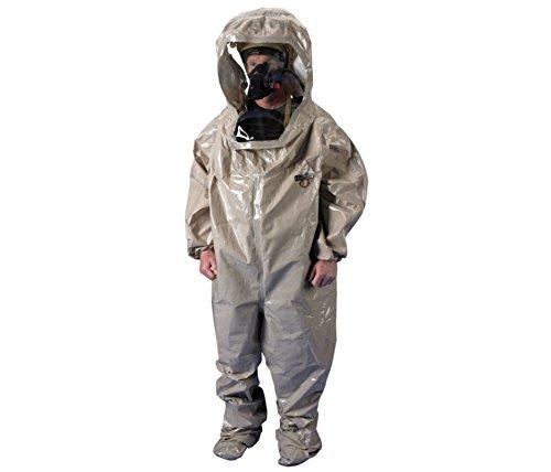 Lakeland Level B Rear-Entry Encapsulated Suit, Dark Green, Size 4X, ChemMax 4, Hazmat Suit PBL40450-4X, Lakeland 6EHZ2 Size 4X