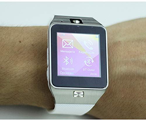 ICARUS - Smartwatch Reloj Inteligente Bluetooth, cámara con Ranura SIM, Registro de Llamadas y SMS, Compatible con Androind. Color Dorado