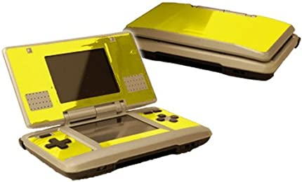 Nintendo DS Skin (Original) - NEW - YELLOW CHROME MIRROR system skins faceplate decal mod
