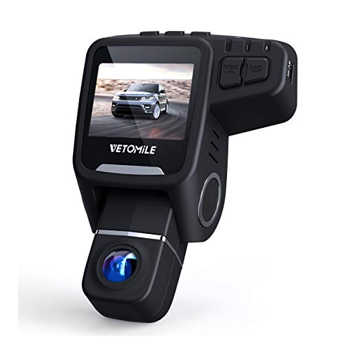 VETOMILE T1 Dash Cam 1080P HD 170°Wide Angle Lens Car Dashboard Camera Recorder with GPS, Built-in WiFi, Loop Recording, G-Sensor, Night Vision