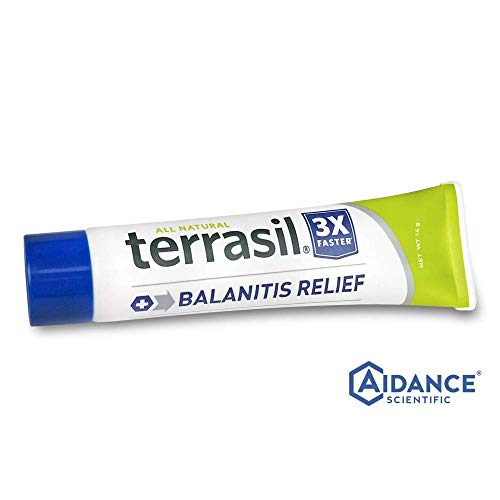 (Terrasil® Balanitis Relief - 100% Guaranteed, Patented All-natural, gentle, soothing skin relief ointment for relief from irritation, itch, redness and inflammation, Balanitis symptoms - 14g)