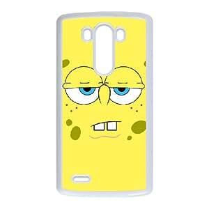 LG G3 teléfono móvil caso blanco esponjada Bob Rzro