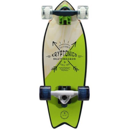 Kryptonics Mini Fish Cruiser Complete Skateboard, 23