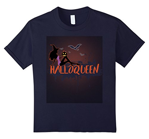 Cute Halloween Gift Ideas For Boyfriend (Kids Halloqueen Shirt-Great Gifts For Halloween-Awesome Cute Tee. 12 Navy)