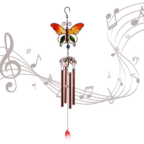 aijiaer Wind Chimes Outdoor, Large Deep Tone Wind Chimes with 6 Metal Tubes Wind Chimes Outdoor Amazing Grace Wind Chime for Garden, Yard, Patio, Home, Decoration and Gift. ()