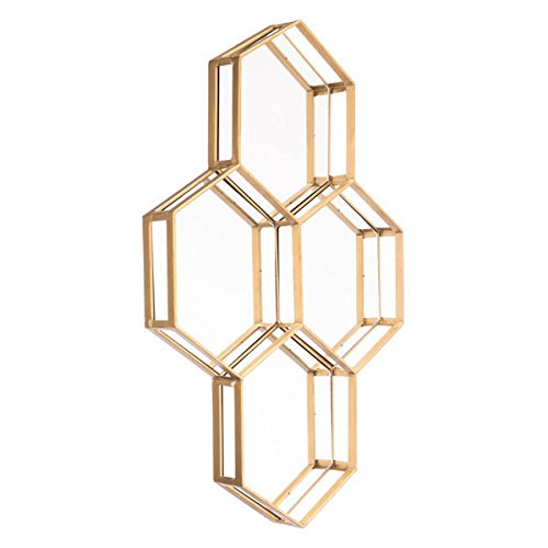 Zuo Honeycomb Mirror, Gold ()