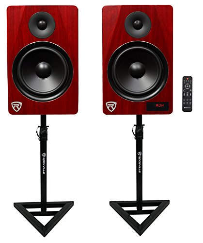 "Rockville HTS8C 8"" 1000W Powered Home Theater Speakers w/Blu"