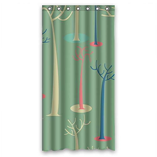 Cosbudy Polyester Bath Curtains Of Tree For Boys Relatives Her Lover Teens. Mildew Resistant Width X Height / 36 X 72 Inches / W H 90 By 180 - Long Beach In Pike