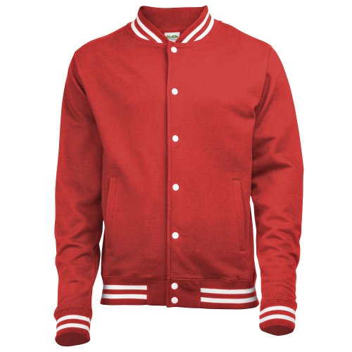 Awdis Mens College Jacket (XXL) (Fire Red) ()