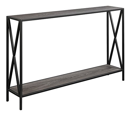 A Narrow Console Table in a small bedroom is a good idea when there is no room for a nightstand beside the bed