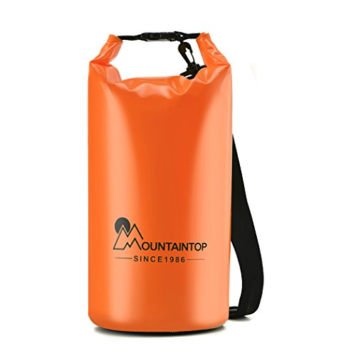 Mountaintop Lightweight Waterproof Dry Bag for Boating, Kayaking, Fishing, Beach, Swimming and Snowboarding with