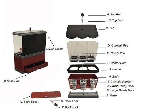 Amazon.com: Máquina expendedora de dulces con tres ...
