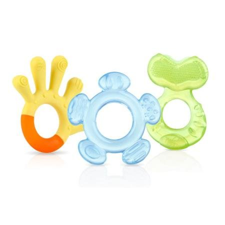 Nuby 3 Step Teether Set, BPA - Neutral - Assorted Colors - Textured Teether