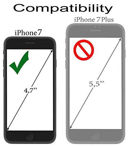 StilGut Book Type Case, con clip e con funzione supporto, custodia in pelle cover per iPhone 8 e iPhone 7 (4,7) Chiusura a libro Flip-Case, in vera pelle, Nero