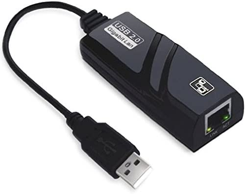 Black WUHFSHOPP Computer Accessories HA USB 2.0 Gigabit Ethernet Adapter,Supports 10//100//1000 Mbps auto-Sensing Capability