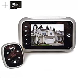 digitsea digital doorbell peephole door camera 3.5 inches TFT LCD screen Night vision wide angle / Video Record / Photo shooting