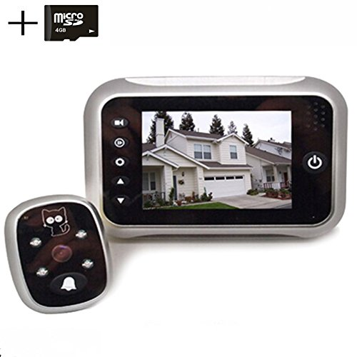 digitsea digital doorbell peephole door camera 3.5 inches TFT LCD screen Night vision wide...