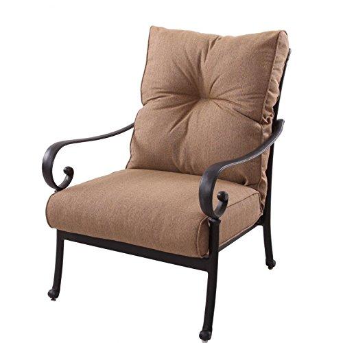Deep Seating Club Chair Cushion (K&B PATIO LD600-21 Santa Anita Deep Seating Club Chair with Cushion, Antique Bronze)