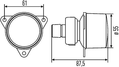 Front Crystal Clear Turn SIgnal LH=RH HELLA Mercedes O 305 Conecto Intouro 2001